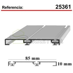 CARRIL INF.5M.S-85 PLATA MATE 25361